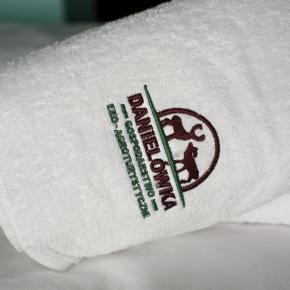 Logo Danielówki - agroturystyka (na ręcznikach)